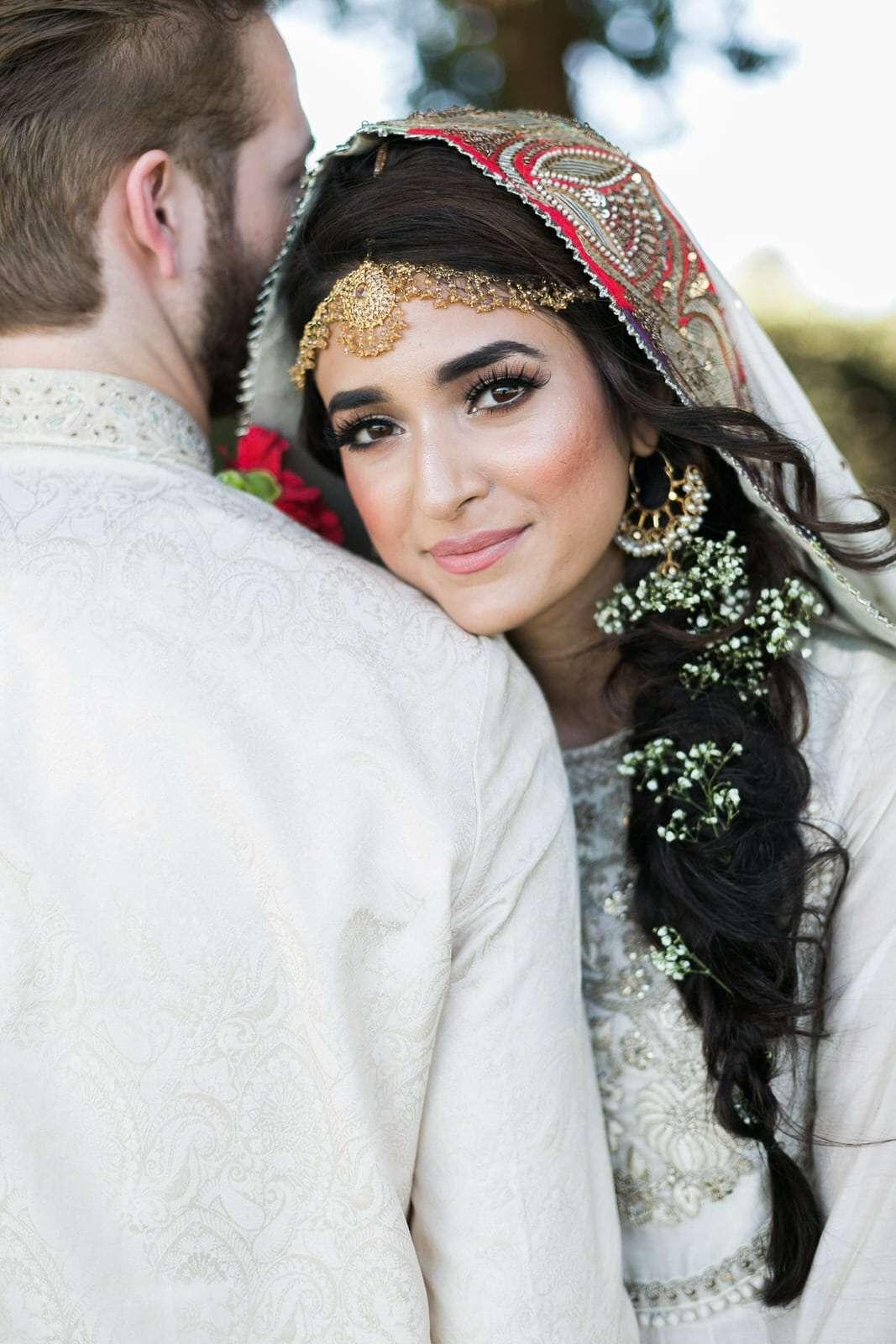 muslim wedding bride with henna