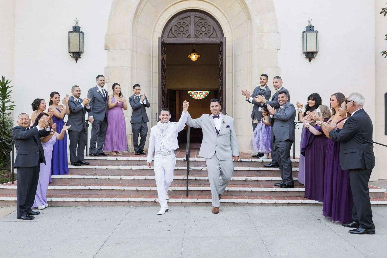 riviera mansion gay wedding photos