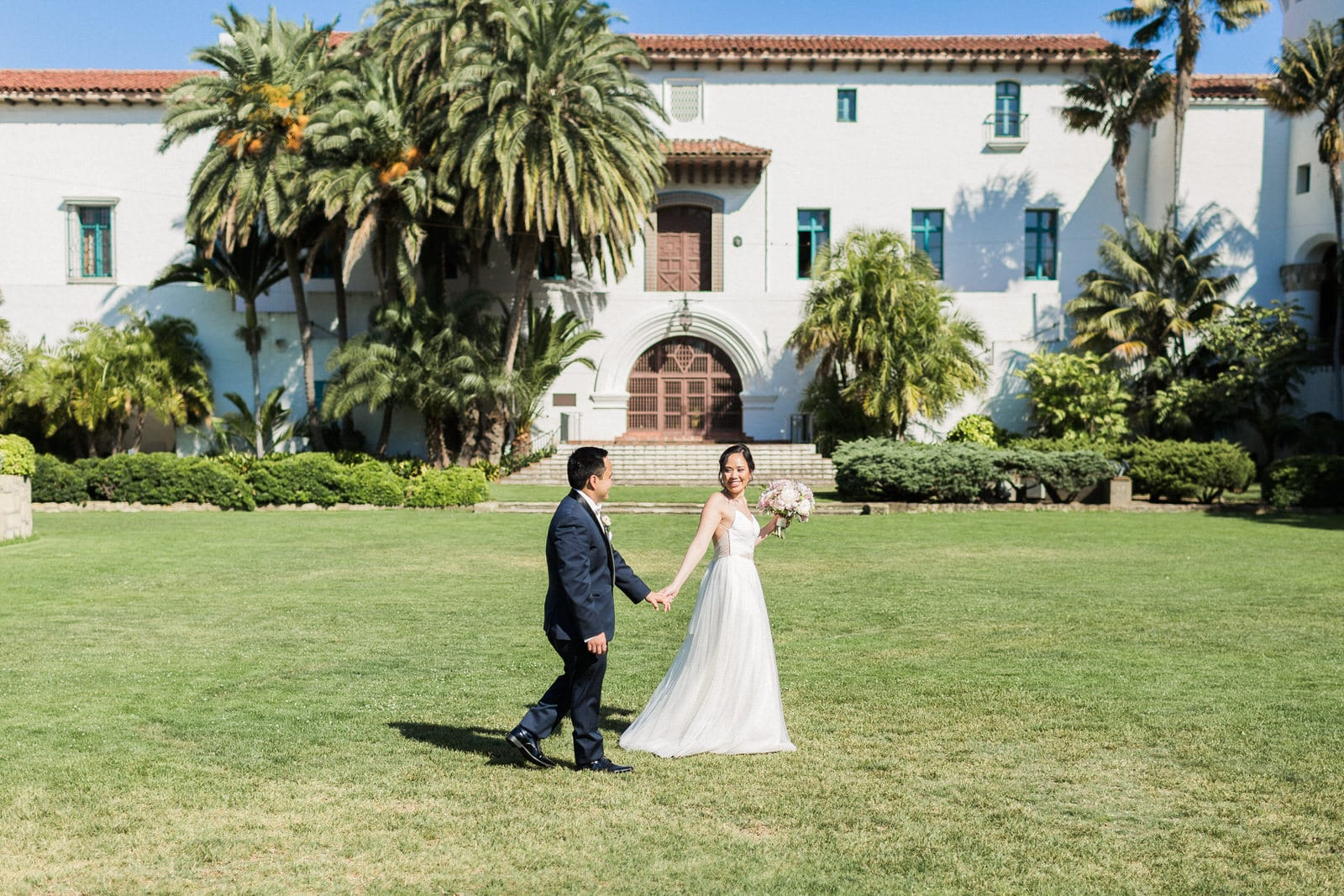 santa barbara courthouse wedding photographer