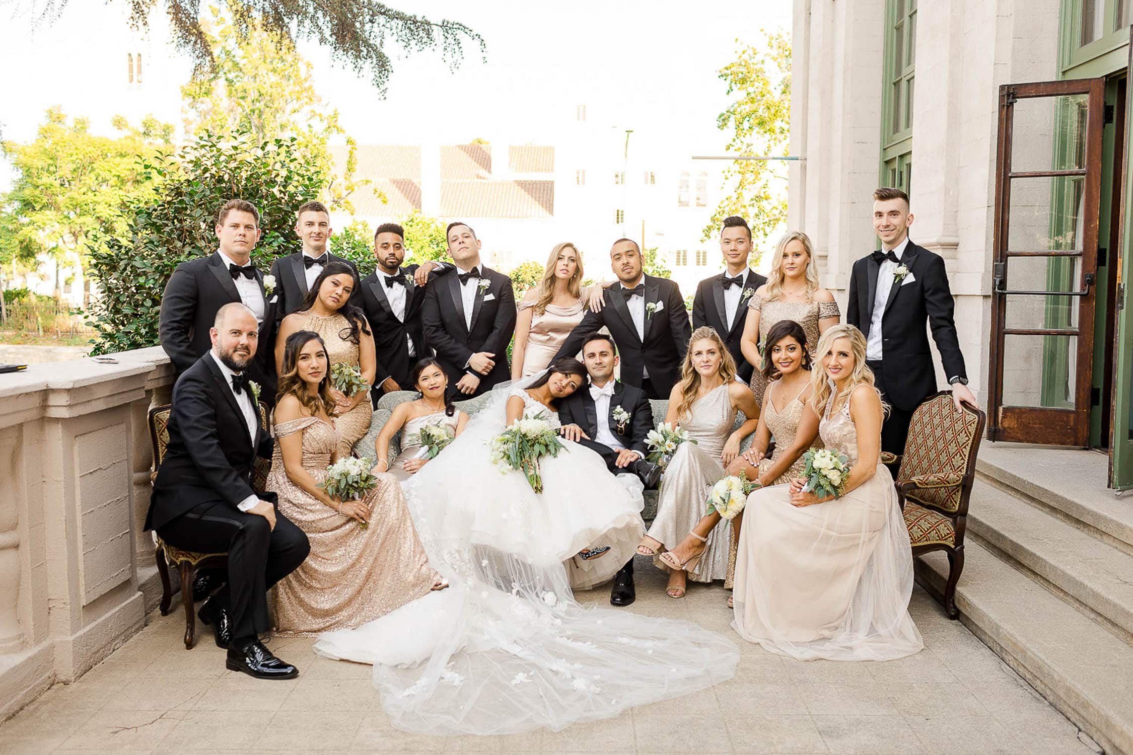 wedding party at the ebell of los angeles