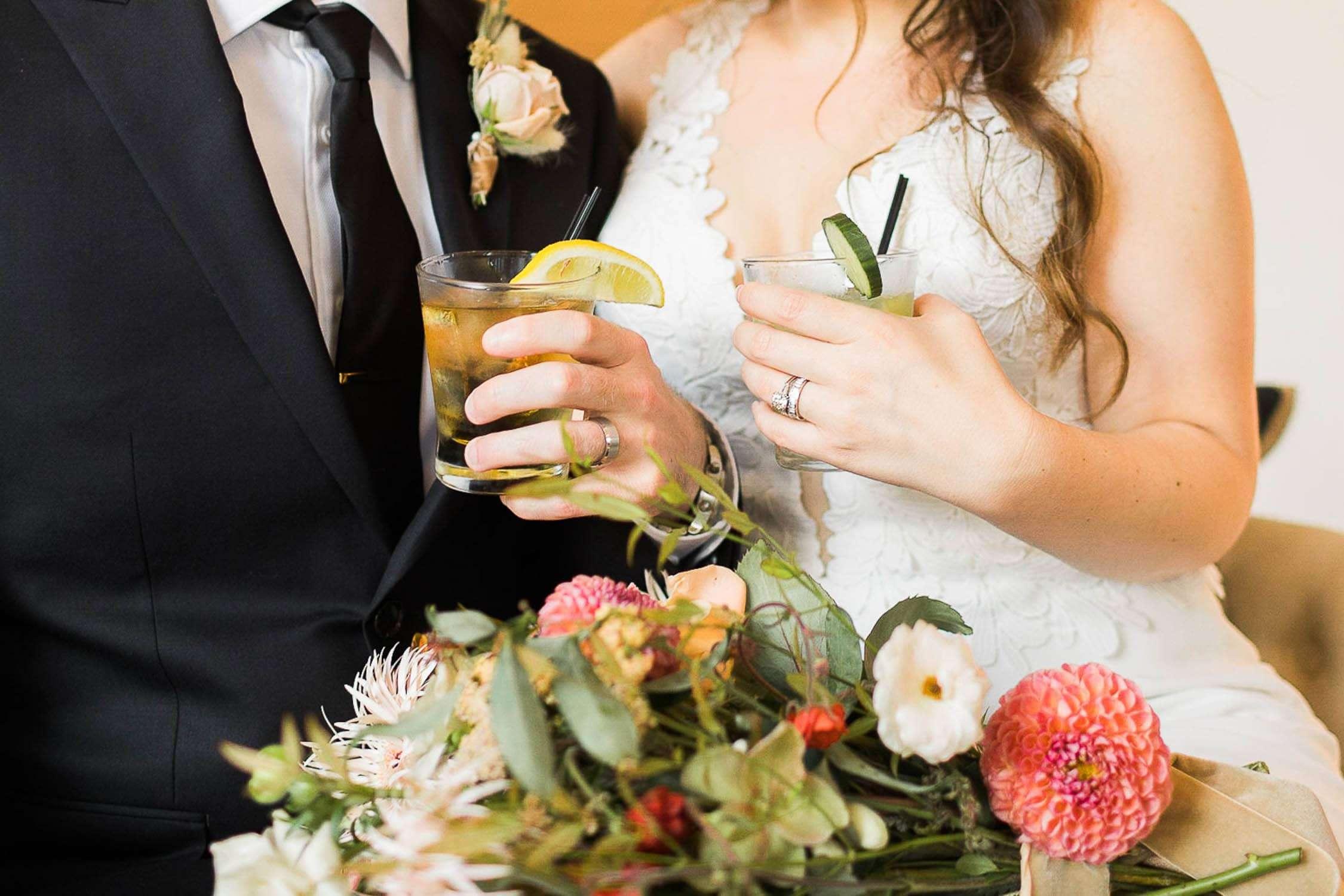 villa and vine wedding reception downtown santa barbara