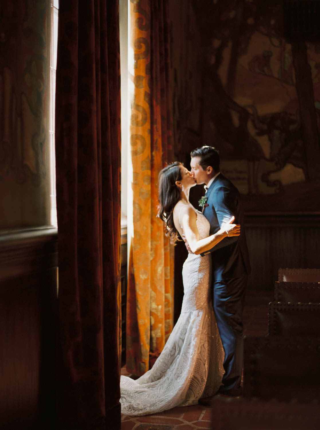 santa barbara courthouse mural room wedding photographer