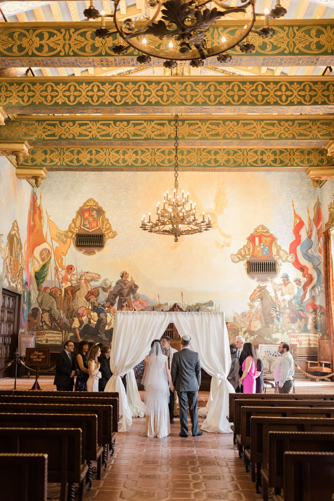 MURAL ROOM WEDDING SANTA BARBARA COURTHOUSE