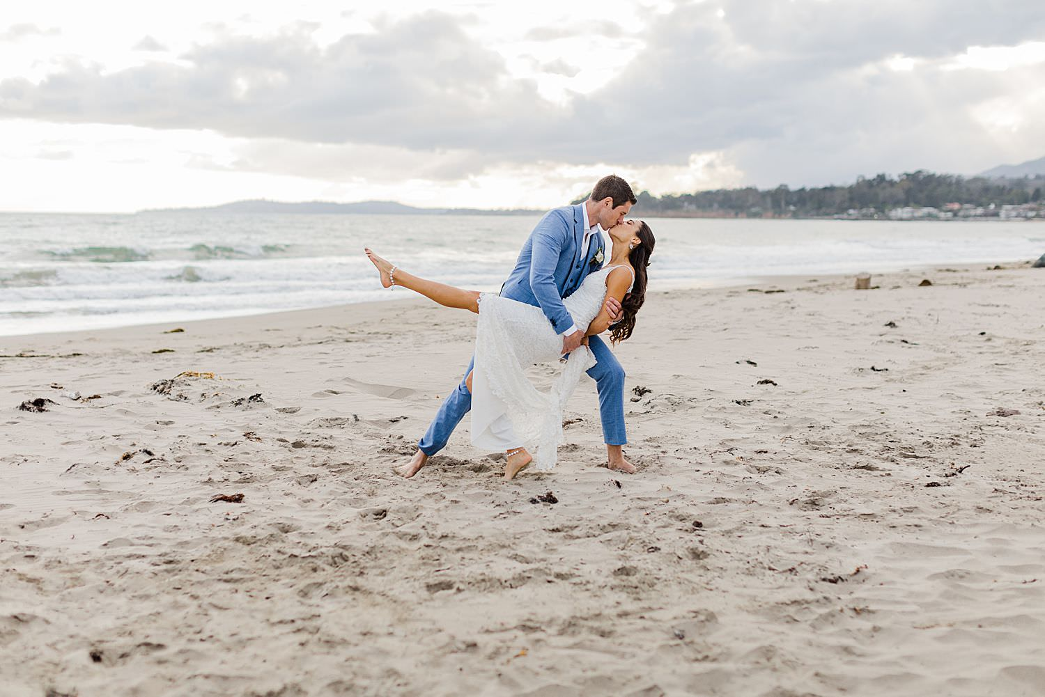 santa barbara beach wedding photographer