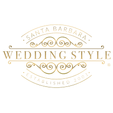 santa barbara wedding style badge