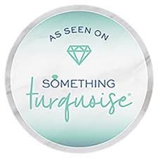 something turquoise badge